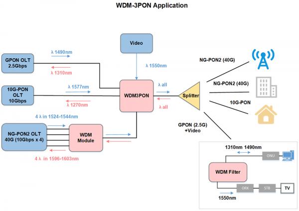 wdm3pon application