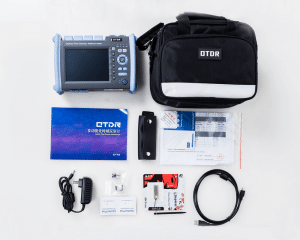 (ALL IN ONE) Fiber Optic OTDR Reflectometer Built in VFL OPM OLS Touch Screen